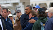 President Obama surveys Sandy damage