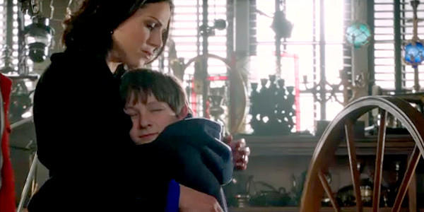 "Regina and Henry share a moment on ""Once Upon a Time."""