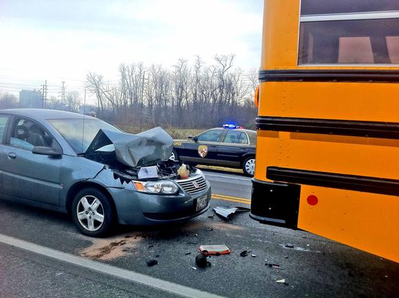 School bus involved in crash