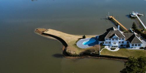 This waterfront home 1000 Witch Point Trail in Virginia Beach is on the market for $2,800,000.
