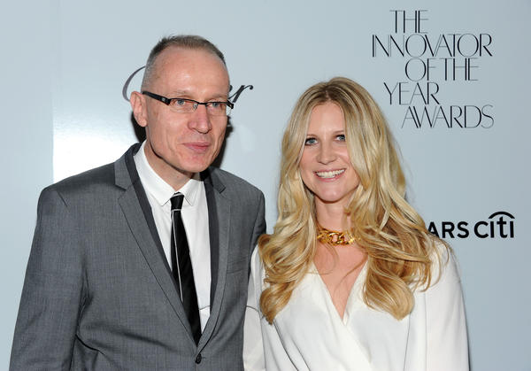 "Wall Street Journal managing editor Robert Thomson and WSJ Magazine Editor-in-chief Kristina O'Neill at WSJ Magazine's ""Innovator of the Year Awards"" in October."