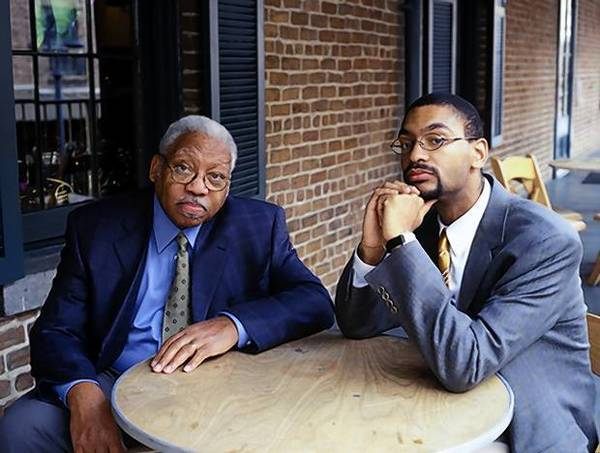 Ellis Marsalis, left, and his son Jason Marsalis, perform 'a Very New Orleans Christmas' Friday, Dec. 7, at Fairfield University's Quick Center for the Arts.