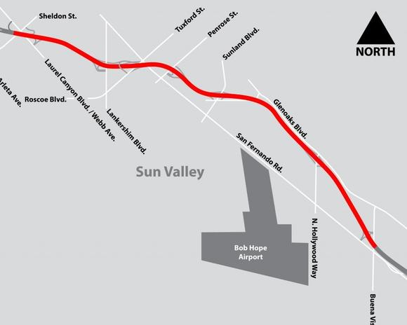 A map of the affected project area.