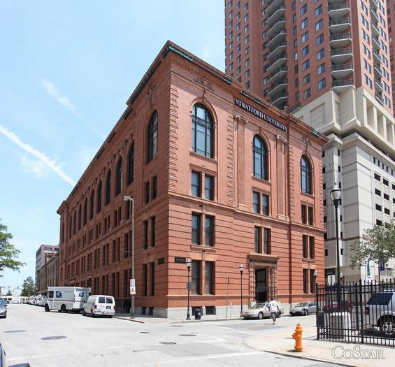 The Commerce Exchange Building, at 17 Commerce St., is for sale by its owner, Baltimore International College.