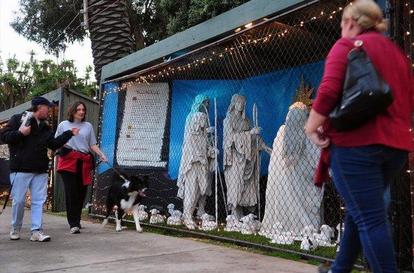 The Santa Monica Nativity scene as displayed in 2011.