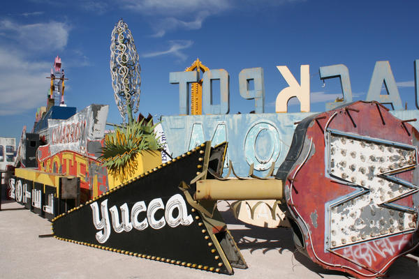 Yesterday's bright lights at the Neon Museum