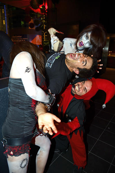 Eli Roth devoured by zombies at his Goretorium