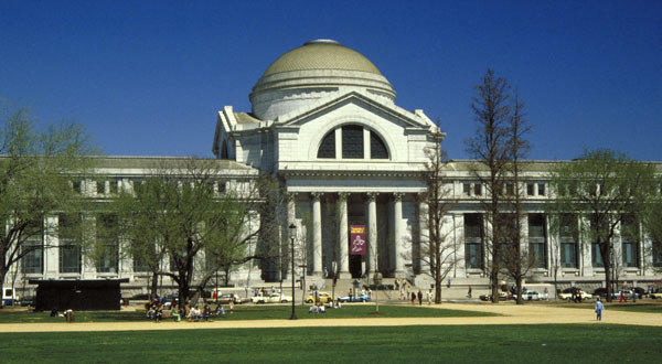 The Smithsonian National Museum of Natural History is shown above. The spider that spent 100 days in space died at the museum on Monday.