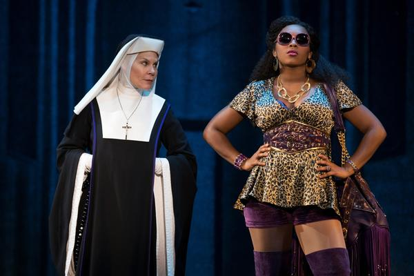 "Hollis Resnik and Ta'Rea Campbell star in the touring production of ""Sister Act."""