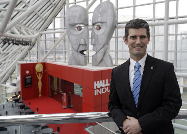Greg Harris, incoming president and chief executive, at the Rock and Roll Hall of Fame in Cleveland.