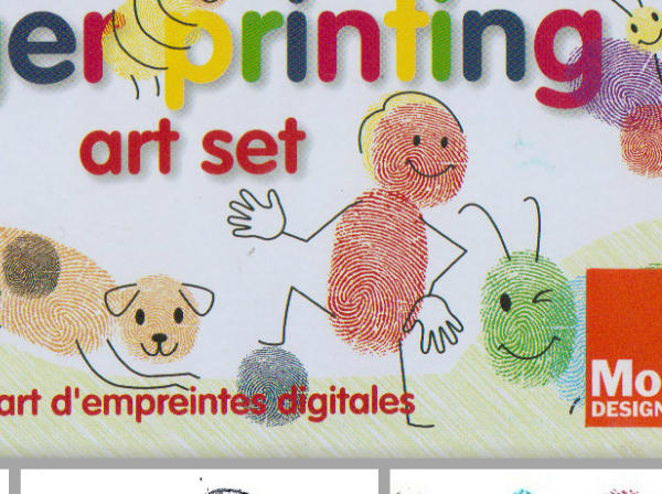 "Let kids channel their inner Ed Emberley -- the late, great fingerprint artist -- with this set that includes ink pads, colored pencils and rubber stamps (to add all those smiles and winks). <br><br> $14, Museum of Modern Art Design Store display in the housewares department of <A href=""http://www.jcpenney.com"">JCPenney</a>."