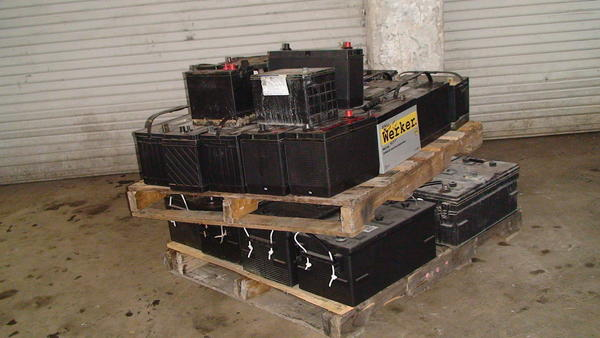 Some of these heavy duty batteries were stolen and sold for scrap