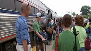 Recent excursions from downtown Roanoke have given western Virginia a taste of passenger rail.  The bus connecting Roanoke with the Amtrak station in Lynchburg has demonstrated the demand. And you don't have to walk far in downtown Roanoke to find potential passengers.