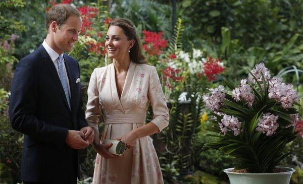 The Duke and Duchess of Cambridge smile on a trip to Singapore.