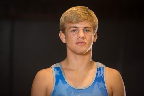 Fox Baldwin of Osceola High School wrestling team