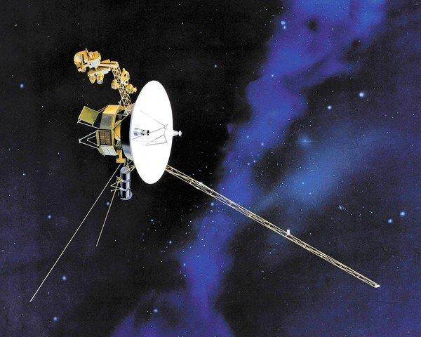 An artist's rendering of one of the twin Voyager spacecraft. Voyager 1 is still surprising scientists as it nears the edge of the solar system.