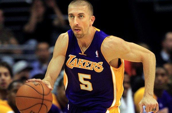 Lakers point guard Steve Blake made only two of 10 shots against the Jazz on Wednesday night in Utah.