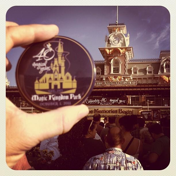 Celebrating the 40th anniversary of the opening of the the Magic Kingdom at Walt Disney World. <b>#thedailydisney</b>