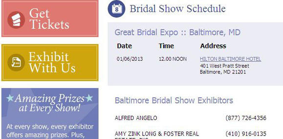 Baltimore Bridal Show