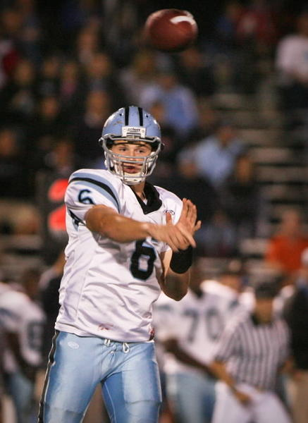 Hagerty's QB Jeff Driskel (6) passes to an open receiver during 1st quarter action of a high school football game against Lake Brantley on Friday, November 12, 2010 in Altamonte Springs, Fla.