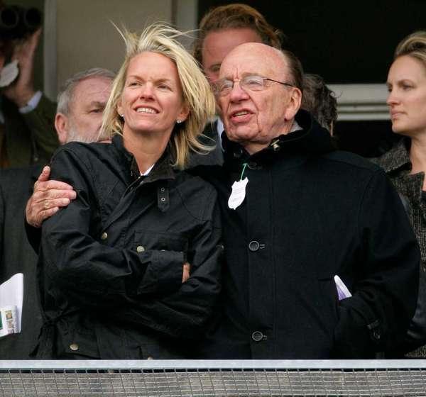 Elisabeth and Rupert Murdoch.