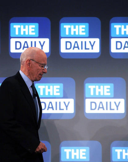 News Corp. CEO Rupert Murdoch will shutter the Daily