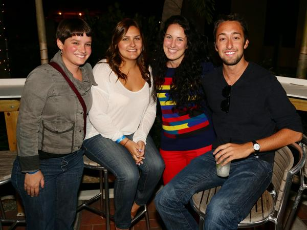 "Elise Chabot, left, Christina Jeffords, Tori Bender and Bobby Sevenich at the 19th annual ""Cranberry Jam,"" which took place Nov. 21 at Bimini Boatyard and benefited Covenant House Florida."