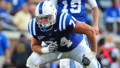 Offensive lineman Dave Harding provided a stable interior presence for bowl-bound Blue Devils, recording 12 starts at left guard for a team that ranked second in the ACC in sacks allowed per pass attempt.
