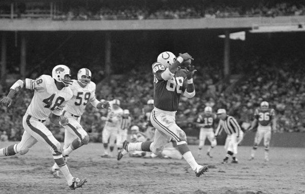 John Mackey, a former tight end for the Baltimore Colts, was among a group of athletes whose brains were examined after death in a study looking at degenerative brain disease and multiple concussions. Mackey died in 2011 of dementia complications.
