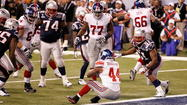 Ahmad Bradshaw backs it up into the endzone