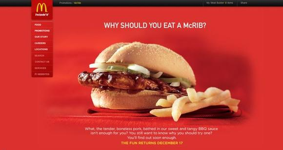 The McRib returns Dec. 17