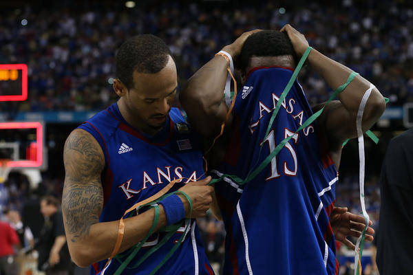 The University of Kentucky Wildcats defeated the Kansas Jayhawks in the finals of the 2012 NCAA Men's Basketball Tournament.