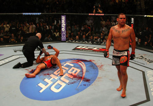 In what some were calling the bloodiest match in UFC history, Velasquez beat Antonio 'Big Foot' Silva in a pretty short fight.