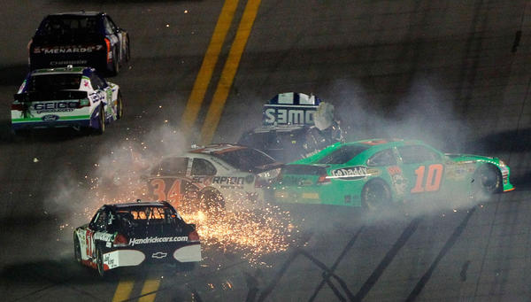 Dustups like this occur frequently in NASCAR and the 2012 Daytona 500 provided more of the same.