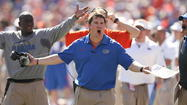 Current Florida Gators coach Will Muschamp and former Gators coach Urban Meyer are both finalists for the Eddie Robinson Coach of the Year Award, it was announced Monday.