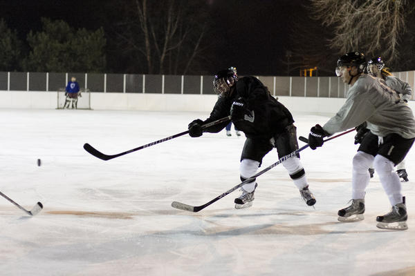 Outdoor Ice Hockey, photographed at Warren Park (6601 North Western Avenue) on Friday, November 31, 2012.