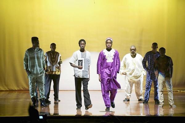 Students modeled fashions from African and European countries at a Fushion Fashion Show during the International Night performances.