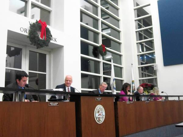 The Orland Park Board of Trustees voted 5-0 Monday approving the village's 2013 budget and a flat village levy.