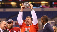 The University of Arkansas has hired Wisconsin's Bret Bielema to be its football coach, the school announced Tuesday night.