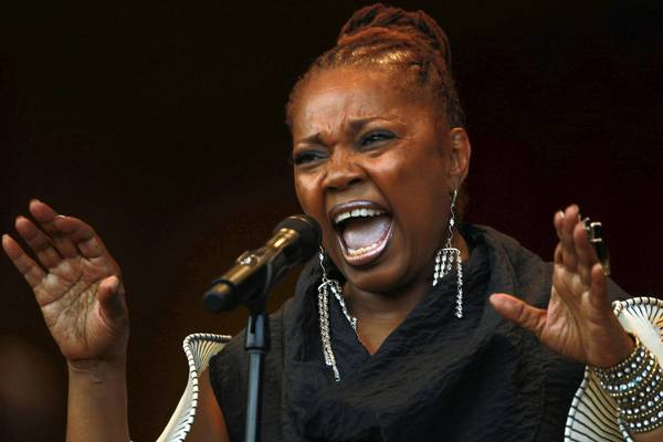 Vocalist Dee Alexander performs during the opening night of the Chicago Jazz Festival earlier this year.