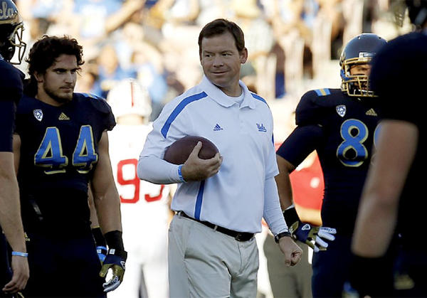 UCLA Coach Jim Mora is a Liberty Mutual Coach of the Year Award finalist.