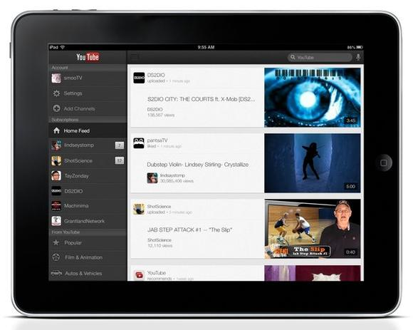 YouTube iPad app