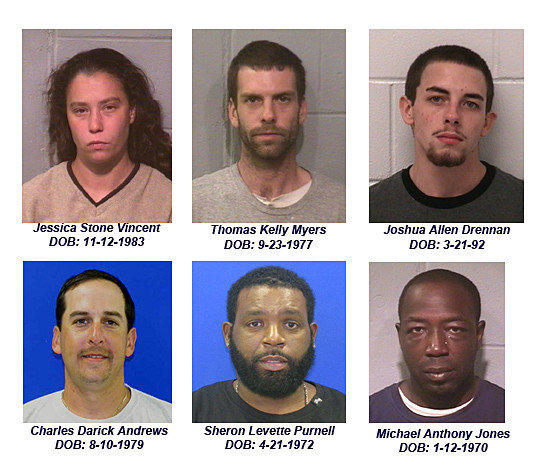 Ocean City police are seeking these six people who have been indicted on drug charges as part of a broad investigation into the local drug trade.