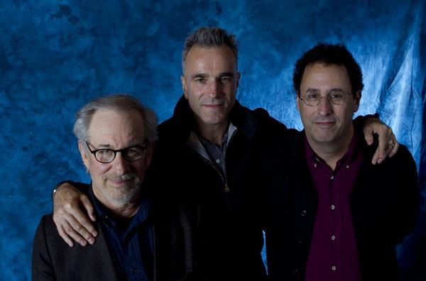Steven Spielberg, Daniel Day-Lewis and Tony Kushner