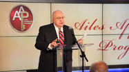 Roger Ailes uses 'fair and balanced' Fox for a political pitch