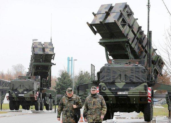 Patriot missile launchers in Bad Suelze, northern Germany. NATO will deploy anti-missile batteries along Turkey's border with Syria.