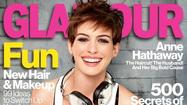 "Anne Hathaway is featured on the cover of Glamour's January issue looking sporty, healthy, happy and as far removed as possible from Fantine, her character in ""Les Miserables"" -- except for the hair cut. <a href=""http://www.glamour.com/fashion/2012/12/anne-hathaway-glamour-magazine-january-2013-cover-shoot-gallery#slide=1"">[Glamour]</a>"