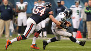 The dark cloud settling over this Bears season grew even more ominous Tuesday with news that middle linebacker Brian Urlacher likely will miss three of the team's final four games with a Grade 2 hamstring strain.