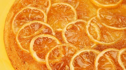Lemon upside-down cake.