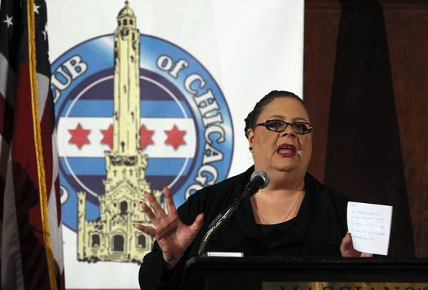 Karen Lewis is president of the Chicago Teachers Union. There was no reason for taxpayers and media to be shut out of the union's contract talks.